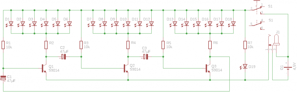 Schaltplan des 3D LED Weihnachtsbaums