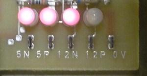 PC1715 Kontrolllampen